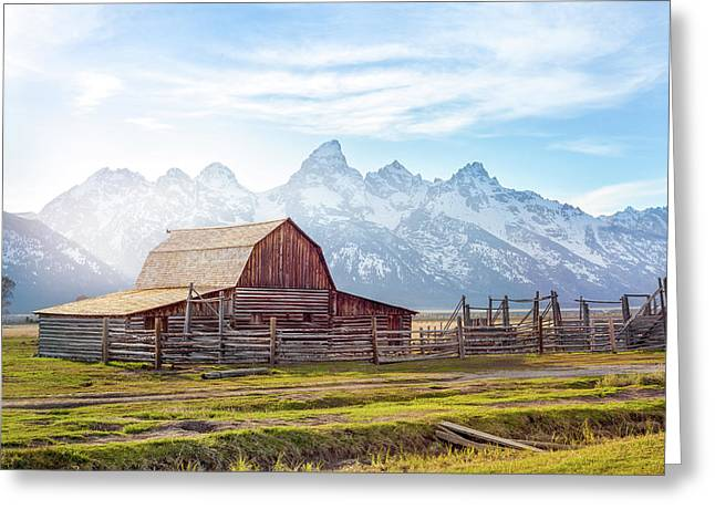 T. A. Moulton Barn // Grand Teton National Park  Greeting Card