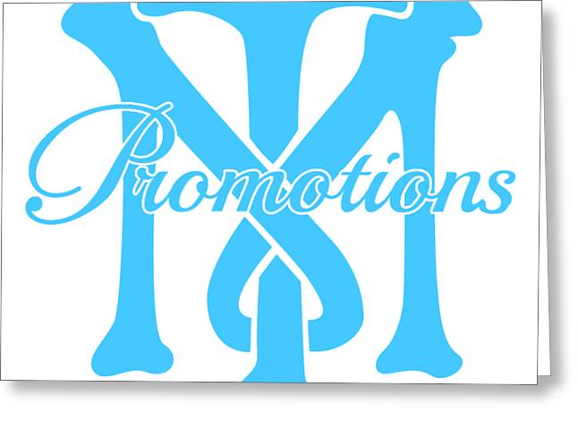 Greeting Card featuring the drawing T And M Promotions Logo by Nicholas Grunas