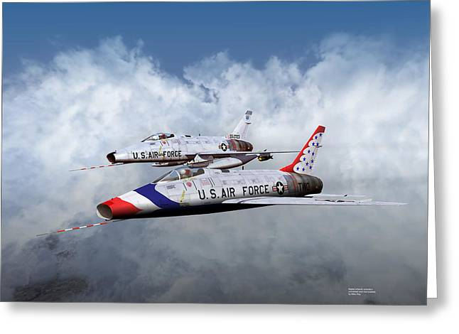 Greeting Card featuring the digital art T Bird Two And A Regular Hun by Mike Ray