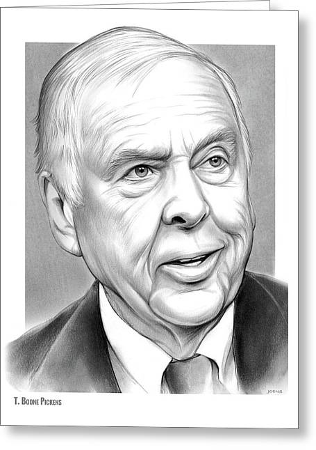 T Boone Pickens Greeting Card