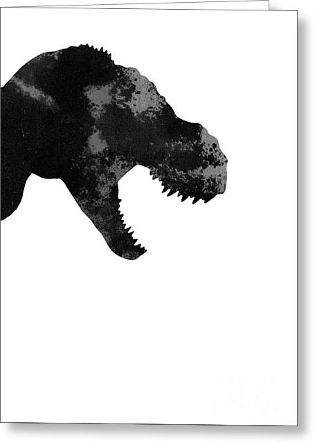 T Rex Abstract Poster Greeting Card