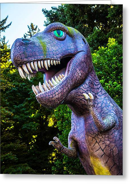 T-rex Oregon Woods Greeting Card by Garry Gay