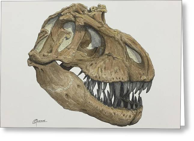 T. Rex Skull 2 Greeting Card