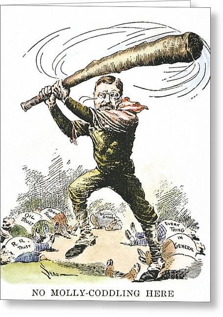T. Roosevelt Cartoon, 1904 Greeting Card