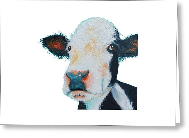 T-shirt With Cow Design Greeting Card by Jan Matson
