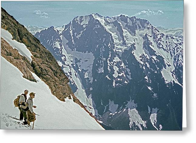 T04402 Beckey And Hieb After Forbidden Peak 1st Ascent Greeting Card