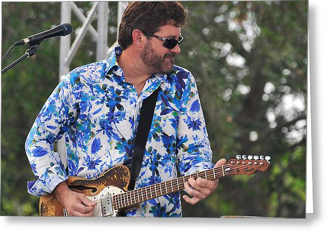 Tab Benoit And 1972 Fender Telecaster Greeting Card