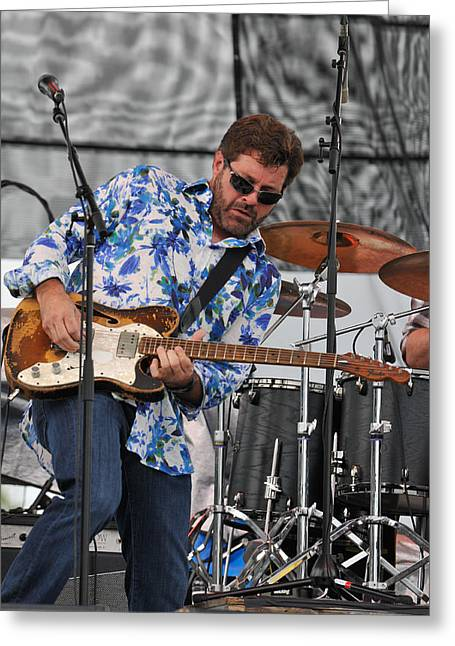 Tab Benoit Plays His 1972 Fender Telecaster Thinline Guitar Greeting Card