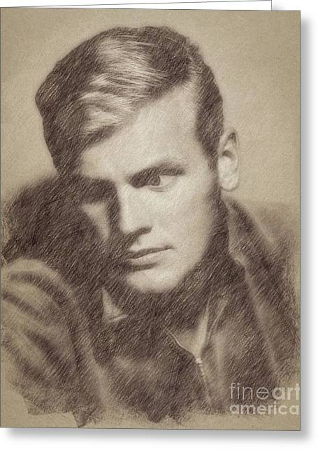 Tab Hunter, Vintage Actor By John Springfield Greeting Card by John Springfield