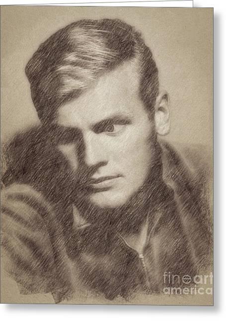 Tab Hunter, Vintage Actor By John Springfield Greeting Card