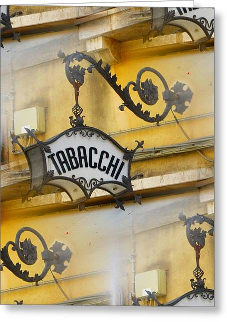Tabacchi Greeting Card by Joe  Geare