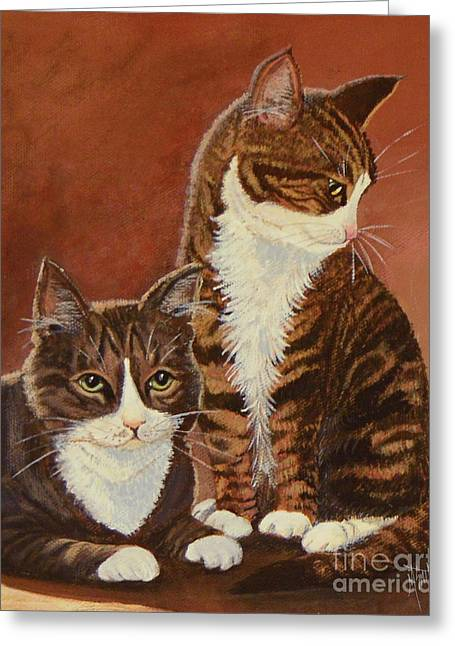 Tabby Cats Portrait Greeting Card
