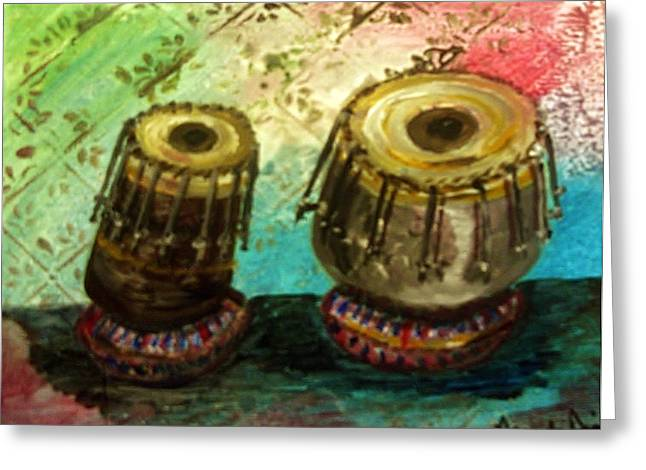 Tabla X 2 Greeting Card