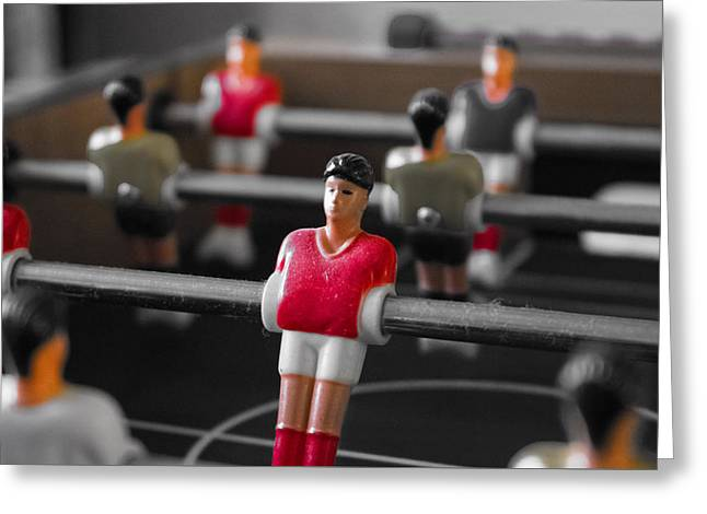 Table Football Greeting Card by Martin Newman