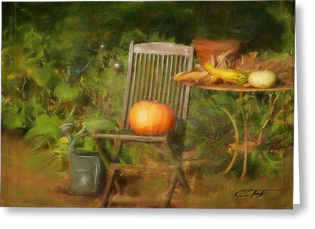 Table For One Greeting Card by Colleen Taylor