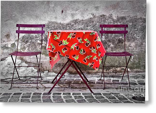 Table For Two Greeting Card by Delphimages Photo Creations