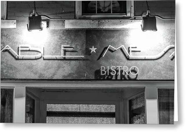 Table Mesa On The Bentonville Square 3 X 1 - Black And White Greeting Card by Gregory Ballos