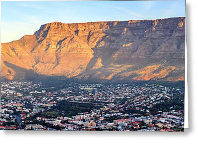 Greeting Card featuring the photograph Table Mountain by Alexey Stiop