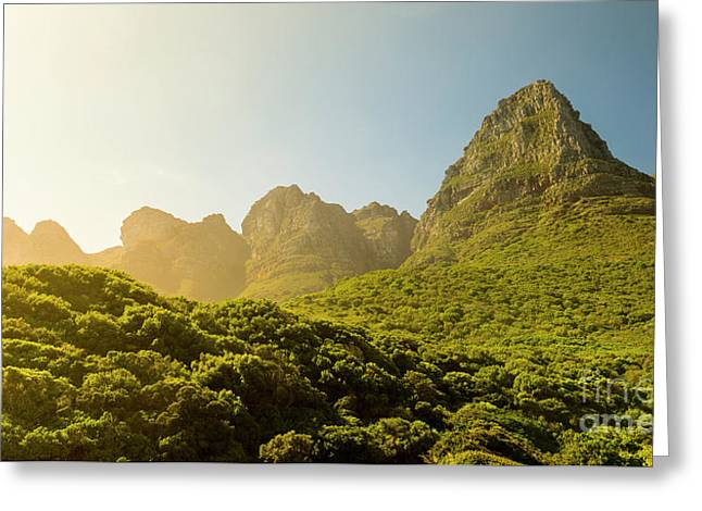 Table Mountain National Park Greeting Card by Tim Hester