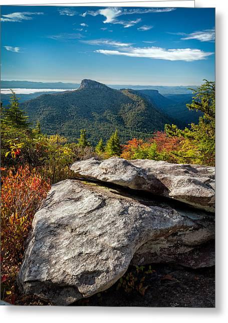 Table Rock Fall Morning Greeting Card