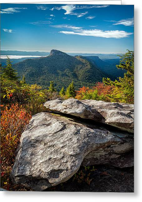 Table Rock Fall Morning Greeting Card