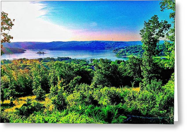 Table Rock Lake Greeting Card by John Derby