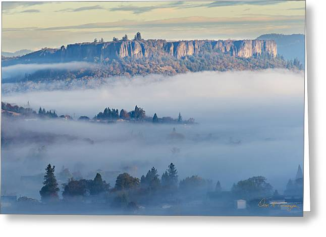 Table Rock Morning Greeting Card
