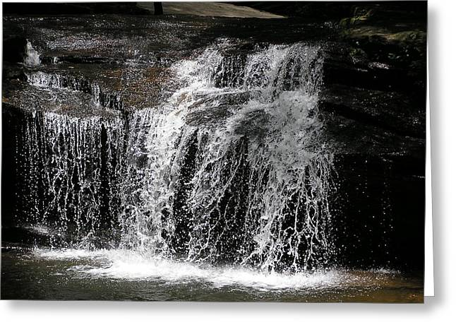Table Rock South Carolina Water Fall Greeting Card by Diane Frick