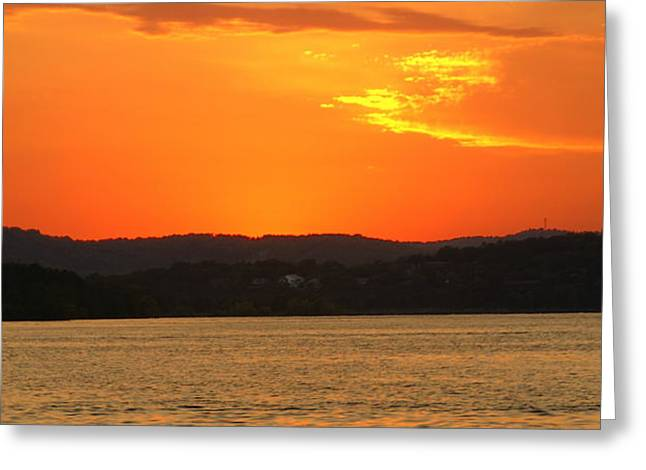 Table Rock Sunset Greeting Card