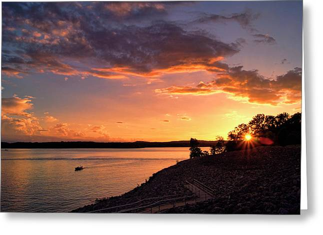 Greeting Card featuring the photograph Table Rock Sunset by Cricket Hackmann