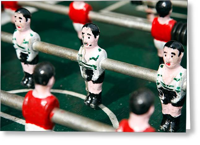 Table Soccer Greeting Card by Gaspar Avila
