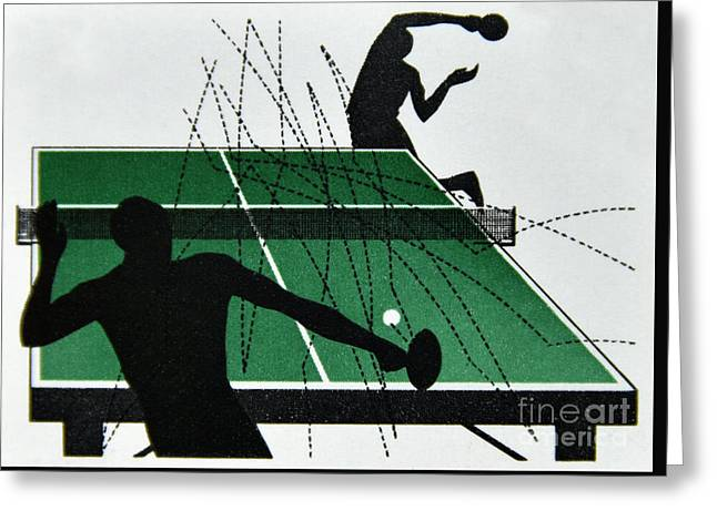 Table Tennis. Greeting Card