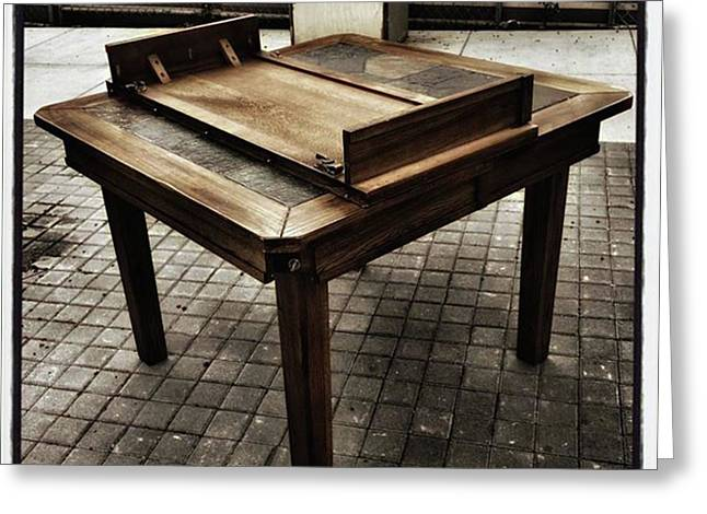 Greeting Card featuring the photograph Table That Thought. This Beautiful by Mr Photojimsf
