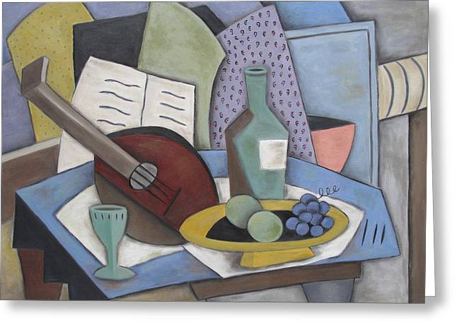 Table With Mandolin Greeting Card