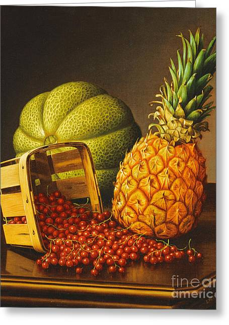 Tabletop Still Life With Fruit Greeting Card