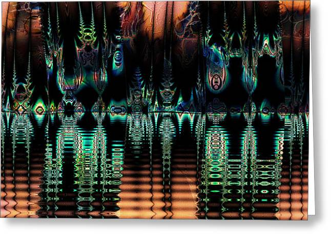 Greeting Card featuring the digital art Taboo Island by Kiki Art