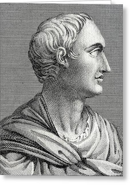 Tacitus, Roman Senator And Historian Greeting Card by Chris Hellier