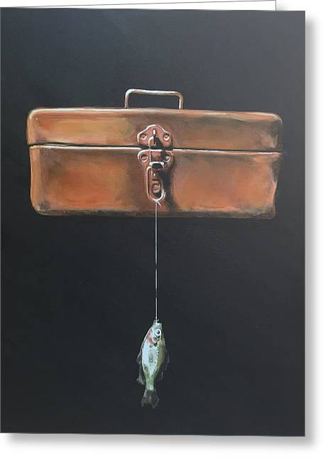 Tackle Box Greeting Card by Jeffrey Bess