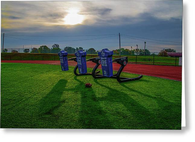 Tackle Dummies - Plymouth Whitemarsh Colonial Field Greeting Card