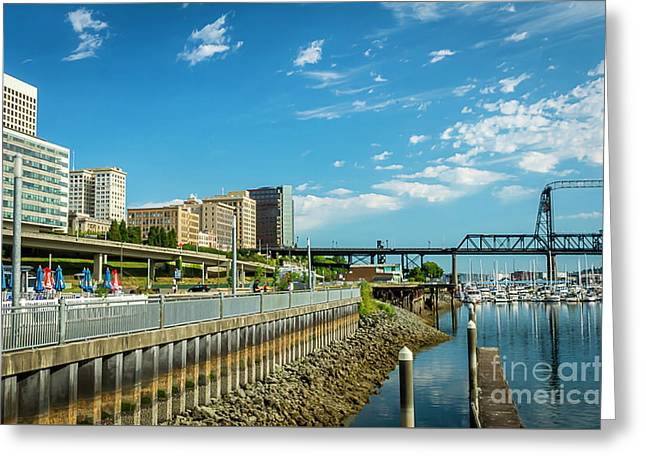 Tacoma And 11th Street Bridge Greeting Card