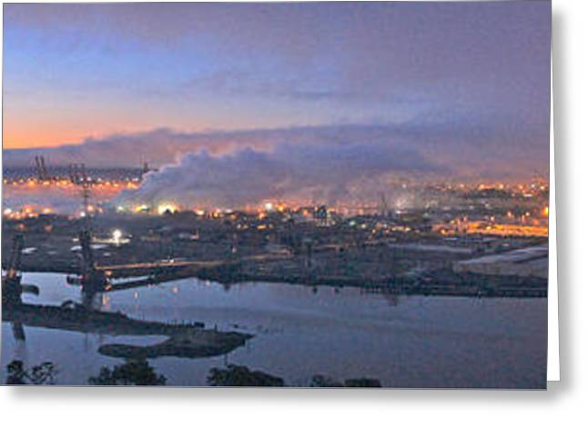 Tacoma Dawn Panorama Greeting Card
