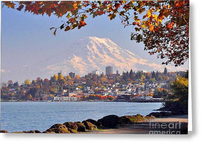 Tacoma N Mt Rainier Greeting Card