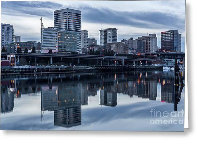 Tacoma Waterfront,washington Greeting Card