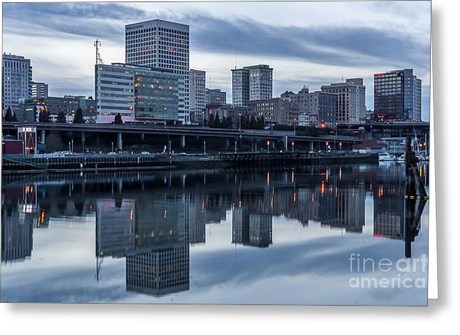 Tacoma Waterfront,washington Greeting Card