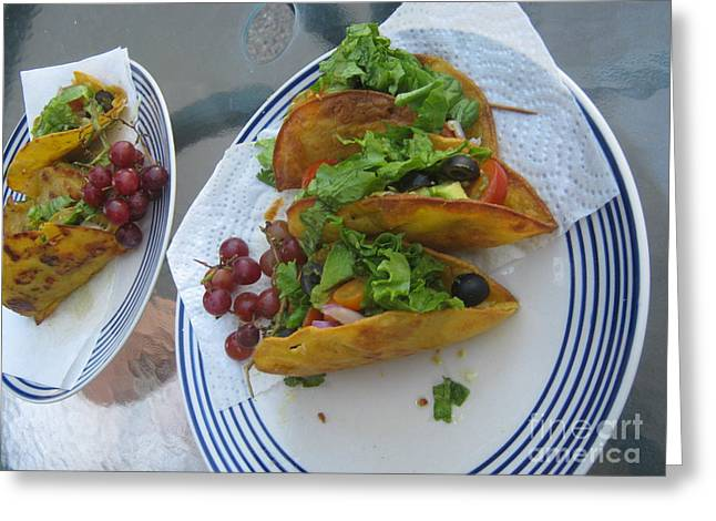 Greeting Card featuring the photograph Tacos Almost Mirrored by Marie Neder