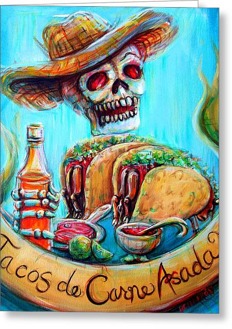 Tacos De Carne Asada Greeting Card