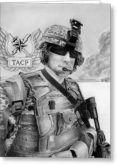 Tactical Greeting Cards - Tacp Greeting Card by Lyle Brown