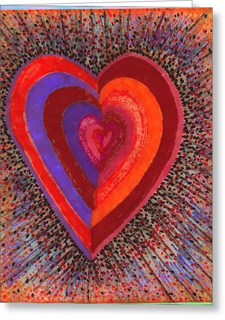 Tada Heart Greeting Card by Brenda Adams