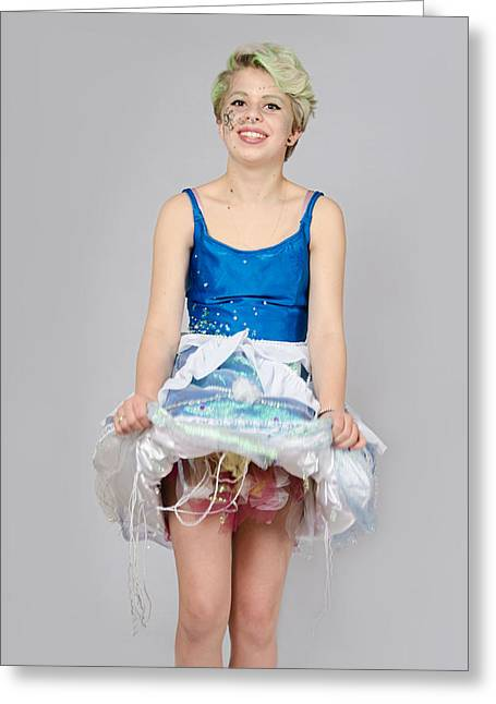Taetyn In Jelly Fish Dress Greeting Card