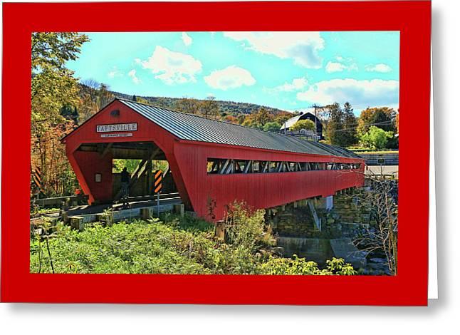 Taftsville Covered Bridge Greeting Card